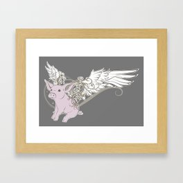 When pigs fly Framed Art Print