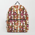 Retro . Floral pattern in yellow and brown tones . by fuzzyfox85