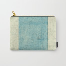 Colorado State Map Blue Vintage Carry-All Pouch