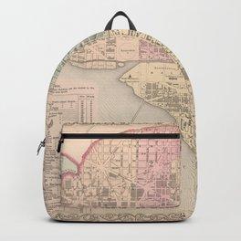 Vintage Map of Washington DC (1857) Backpack