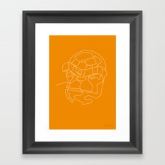One Line The Thing Framed Art Print