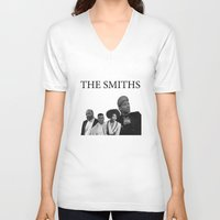 smiths V-neck T-shirts featuring The Smiths  by omiliano