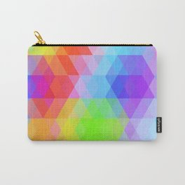 Abstract hipsters pattern with bright colored rhombus Carry-All Pouch