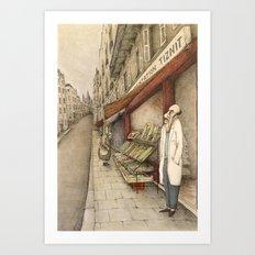 Montmartre Drawing Art Print