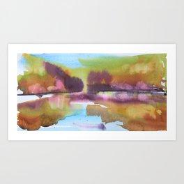 A Splash of Autumn Art Print
