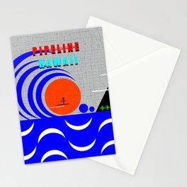 Pipeline Hawaii stickman design A Stationery Cards