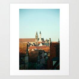 Cozy Rooftops Art Print