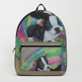 Boston Terrier and Puppies Backpack