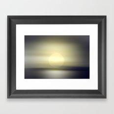Sky and horizon in the twilight. Framed Art Print
