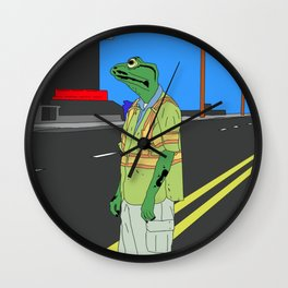 Frog Loneliness Wall Clock