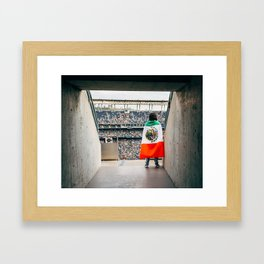 Mexican soccer Framed Art Print