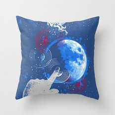Winged Goat of the Cosmos Throw Pillow