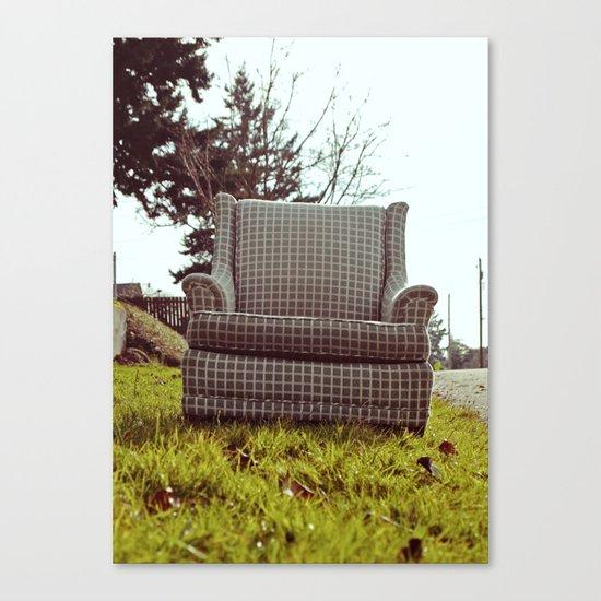 Roadside seating Canvas Print