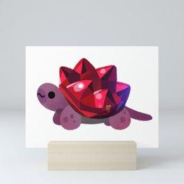 Jewel turtle - pastel Mini Art Print