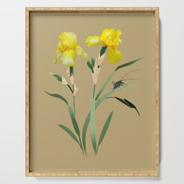 Yellow Iris and Cricket Serving Tray