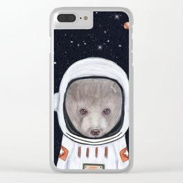 little space bear Clear iPhone Case