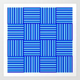 Havana Cabana - Blue Weave Stripe Art Print