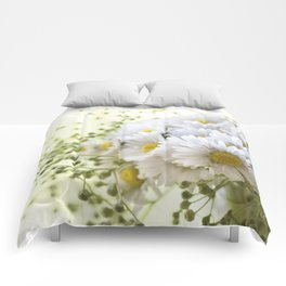 Bouquet of daisies in LOVE - Flower Flowers Daisy Comforters