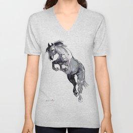 Horse (Jump) Unisex V-Neck