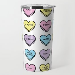 Baesic Candy Hearts - Mexican Food Travel Mug