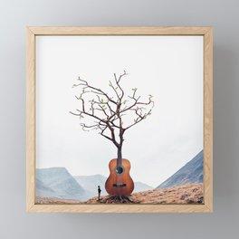 Guitar Tree Framed Mini Art Print