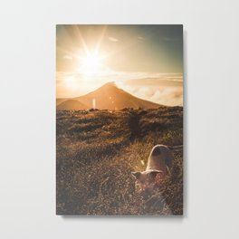 Sunrise on the ring of fire - travel photography & landscapes Metal Print
