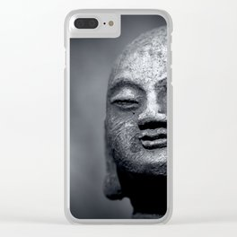 Wisdom - Buddha Black & White Clear iPhone Case