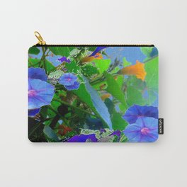 BLUE MORNING GLORY VINES & FLOWERS ABSTRACT ART Carry-All Pouch