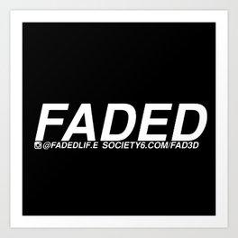 FADED AD Art Print