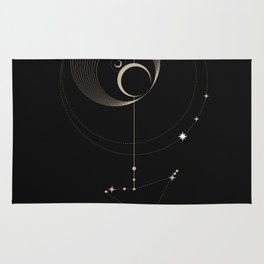 Capricorn Zodiac Constellation Rug
