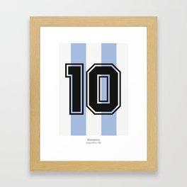 Maradona 10 Framed Art Print