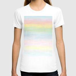 pastel rainbow gradient loved by unicorns T-shirt