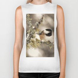 Chickadee and Old Man's Beard - Algonquin Park Biker Tank