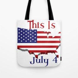 July 4 1776 America Tote Bag