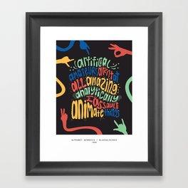 Blackalicious Alphabet Aerobics Poster Framed Art Print