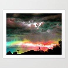 Sky Of Too Many Colors Art Print
