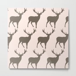 Petite Deer Pink Metal Print