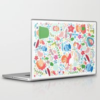 ghibli Laptop & iPad Skins featuring Ponyo Pattern - Studio Ghibli by Teacuppiranha