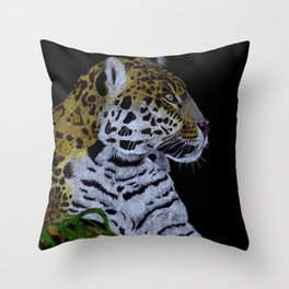 Jaguar (Panthera onca) Throw Pillow