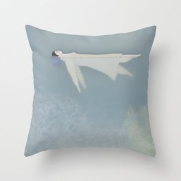 Afloat (Water Woman X) Throw Pillow