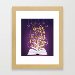 Books are a Uniquely Portable Magic Framed Art Print