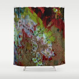 Florales abstract Shower Curtain
