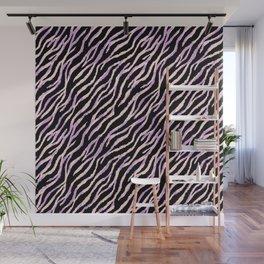 Pastel zebra fur texture II Wall Mural