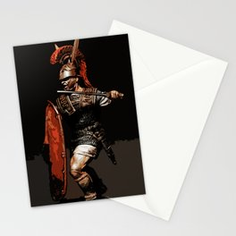 Roman Legionary at War Stationery Cards