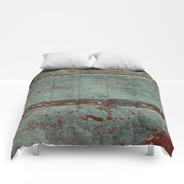 Boat Wood Paint Texture Cornwall Comforters