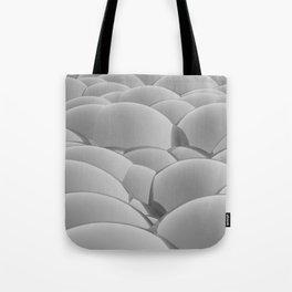 grey 3D Spheres crossover Tote Bag
