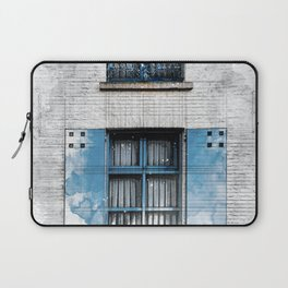 Architect Drawing of Blue Wooden Windows Laptop Sleeve