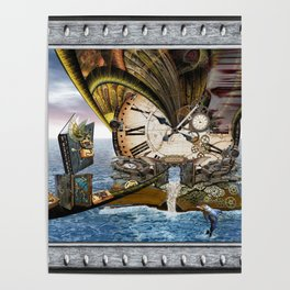 Steampunk Ocean Dragon Library Poster