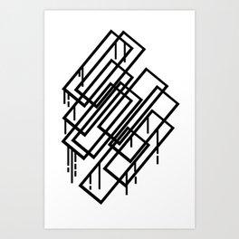 graffiti squares Art Print