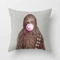 yetiland Throw Pillows featuring Big Chew by Eric Fan